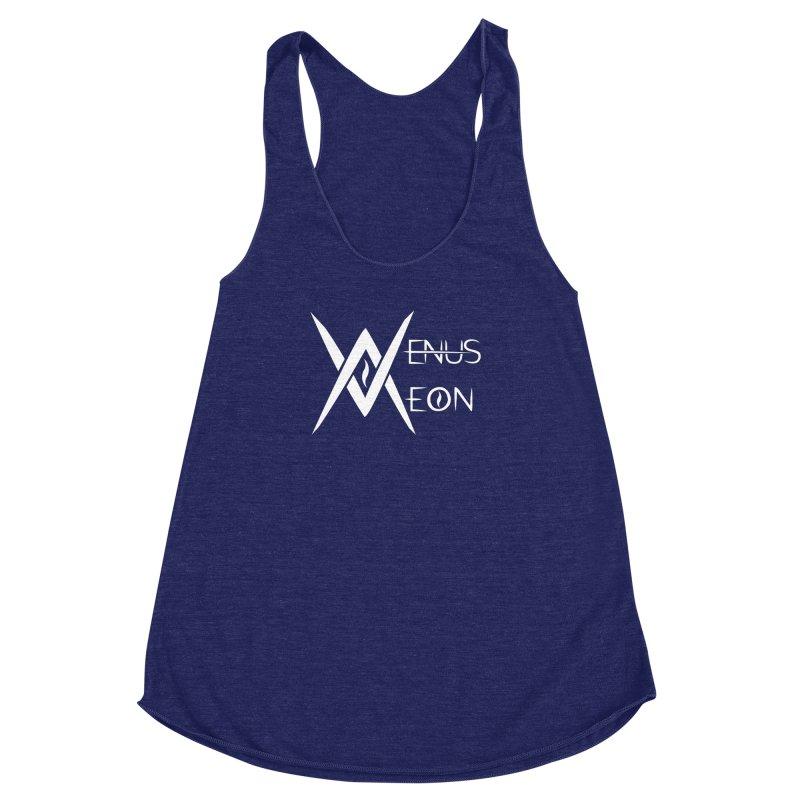 Venus Aeon logo (white) Women's Racerback Triblend Tank by Venus Aeon (clothing)