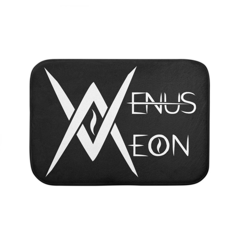 Venus Aeon logo (white) Home Bath Mat by Venus Aeon (clothing)