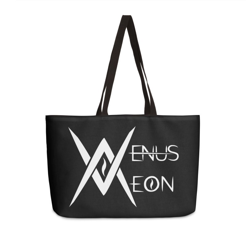 Venus Aeon logo (white) Accessories Weekender Bag Bag by Venus Aeon (clothing)