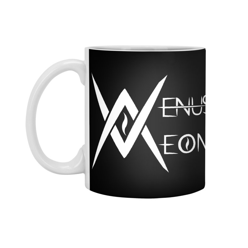 Venus Aeon logo (white) Accessories Standard Mug by Venus Aeon (clothing)