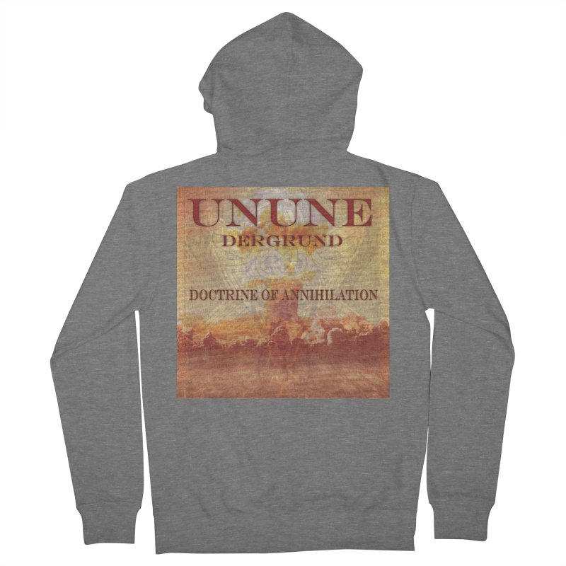 UNUNE - The Doctrine of Annihilation Women's French Terry Zip-Up Hoody by Venus Aeon (clothing)