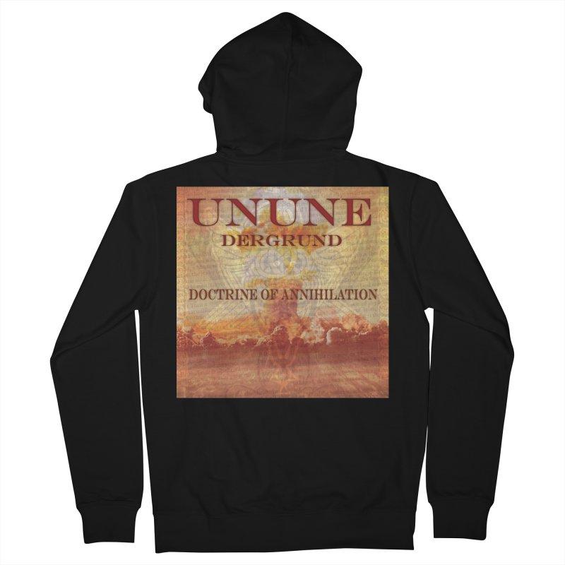 UNUNE - The Doctrine of Annihilation Men's French Terry Zip-Up Hoody by Venus Aeon (clothing)