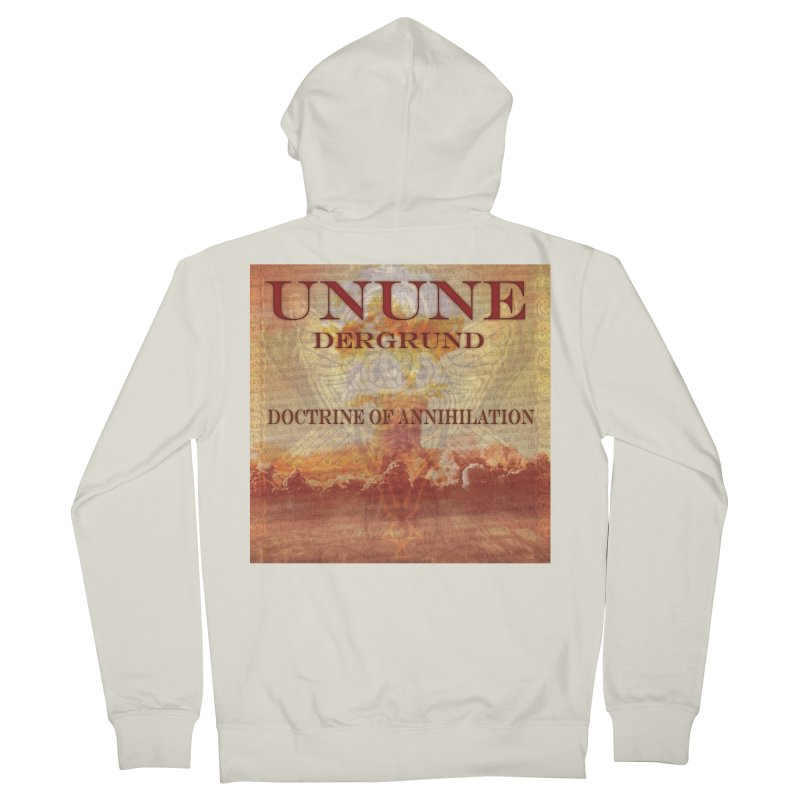 UNUNE - The Doctrine of Annihilation Men's French Terry Zip-Up Hoody by Venus Aeon (clothing)
