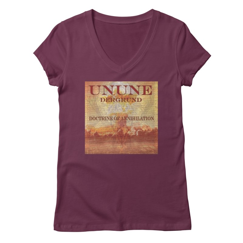 UNUNE - The Doctrine of Annihilation Women's Regular V-Neck by Venus Aeon (clothing)