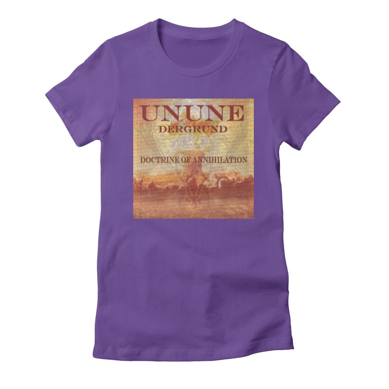 UNUNE - The Doctrine of Annihilation Women's Fitted T-Shirt by Venus Aeon (clothing)