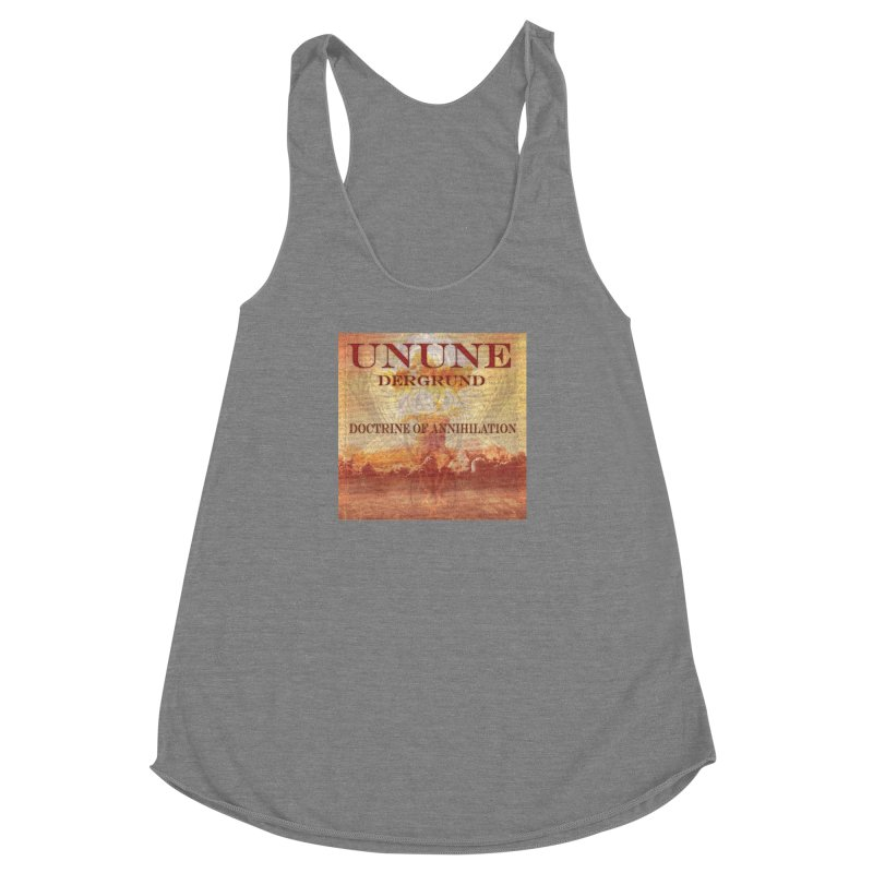 UNUNE - The Doctrine of Annihilation Women's Racerback Triblend Tank by Venus Aeon (clothing)