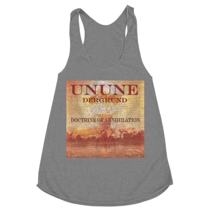 UNUNE - The Doctrine of Annihilation Women's Racerback Triblend Tank by Venus Aeon (clothing)