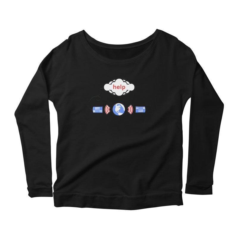 Help Women's Scoop Neck Longsleeve T-Shirt by Verkstad