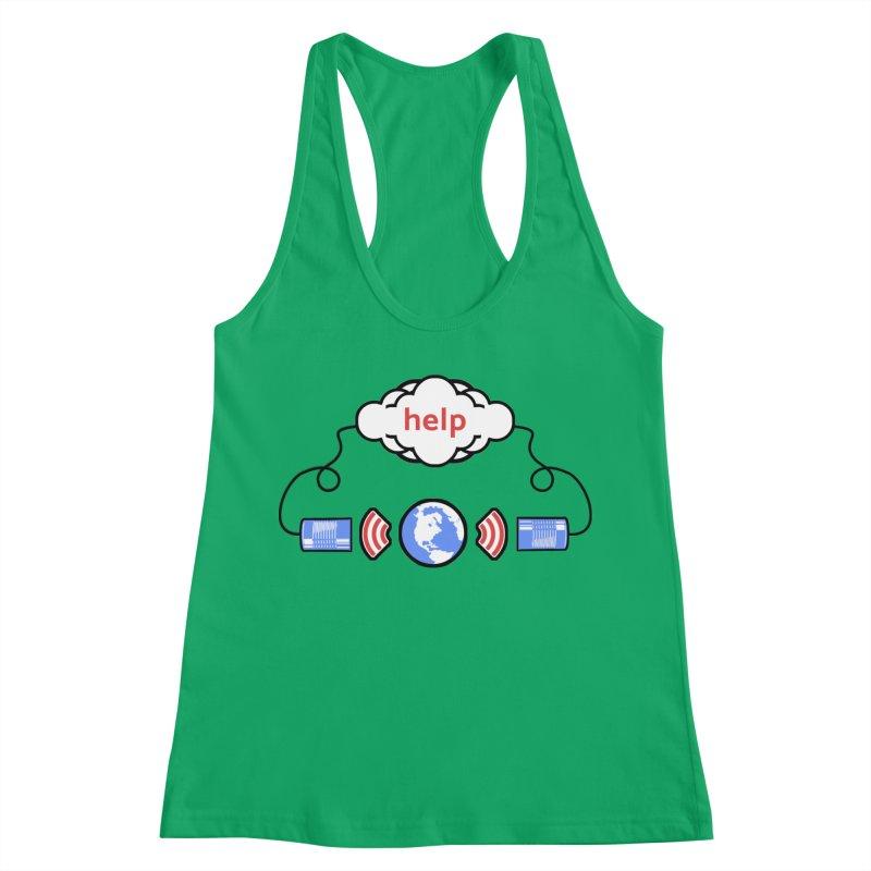 Help Women's Racerback Tank by Verkstad