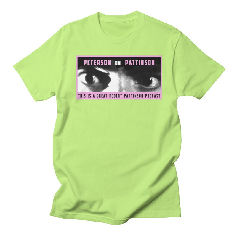 Peterson on Pattinson in Men's Regular T-Shirt Neon Green by Verkstad