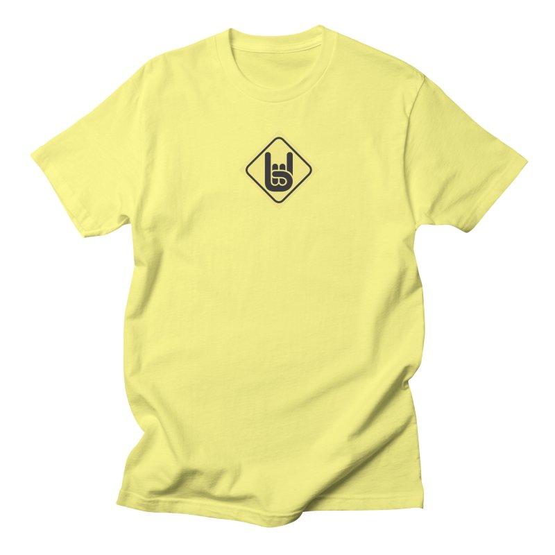 Rock Hand Women's Regular Unisex T-Shirt by Verkstad