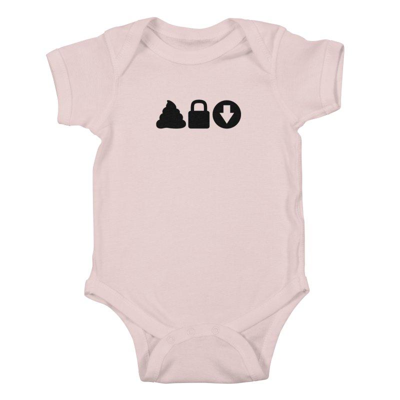 SLD (dark) Kids Baby Bodysuit by Verkstad