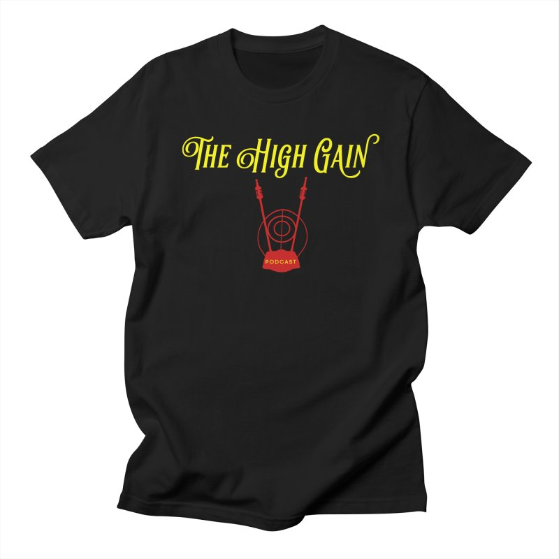 The High Gain Podcast in Men's Regular T-Shirt Black by Verkstad