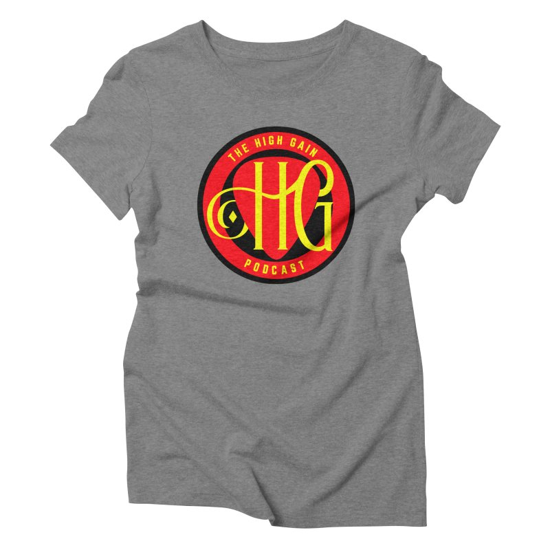 The High Gain (circle) Women's Triblend T-Shirt by Verkstad