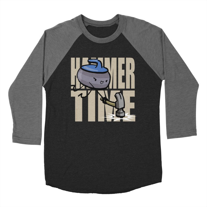 Hammer Time Men's Baseball Triblend Longsleeve T-Shirt by Friday the Shirteenth