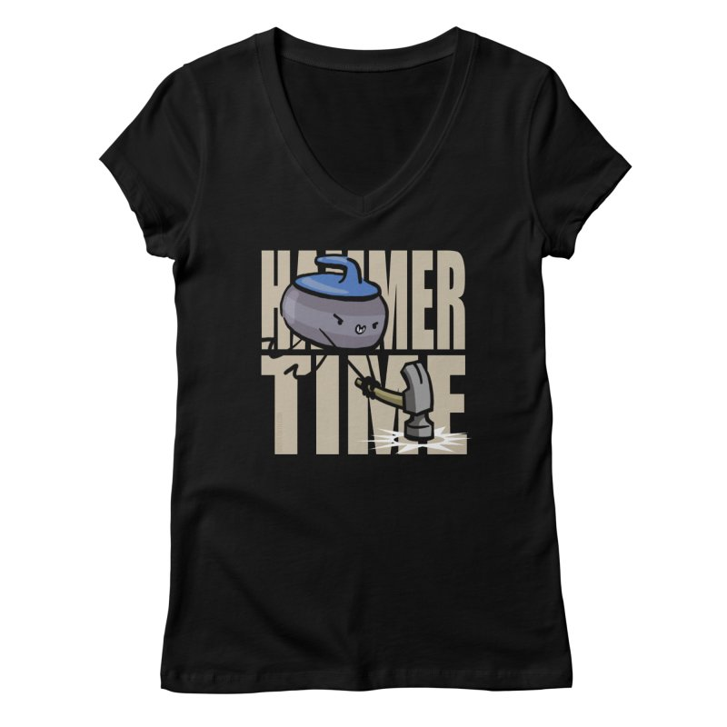 Hammer Time Women's V-Neck by Friday the Shirteenth