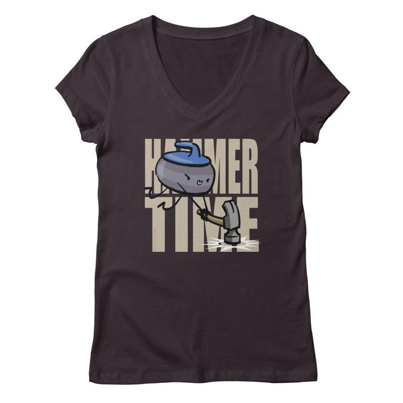 Hammer Time Women's Regular V-Neck by Friday the Shirteenth
