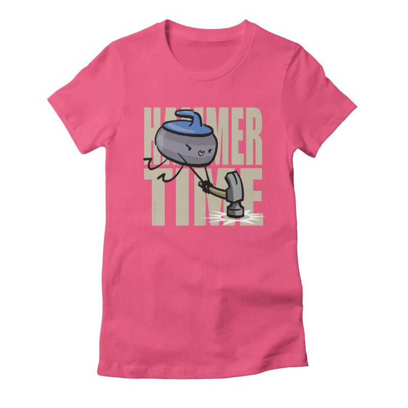 Hammer Time Women's Fitted T-Shirt by Friday the Shirteenth