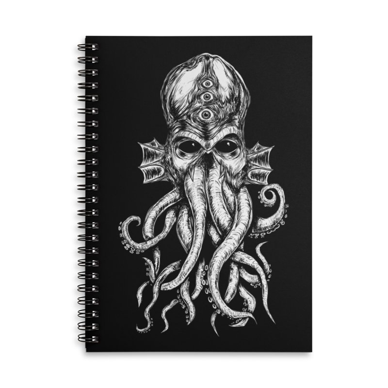 CTHULHU Accessories Lined Spiral Notebook by Vertebrae33