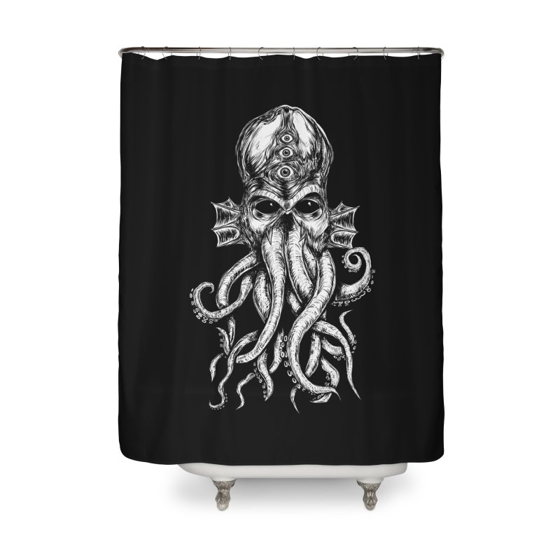 CTHULHU Home Shower Curtain by Vertebrae33