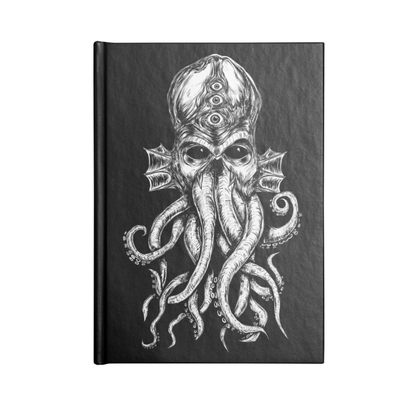 CTHULHU Accessories Blank Journal Notebook by Vertebrae33