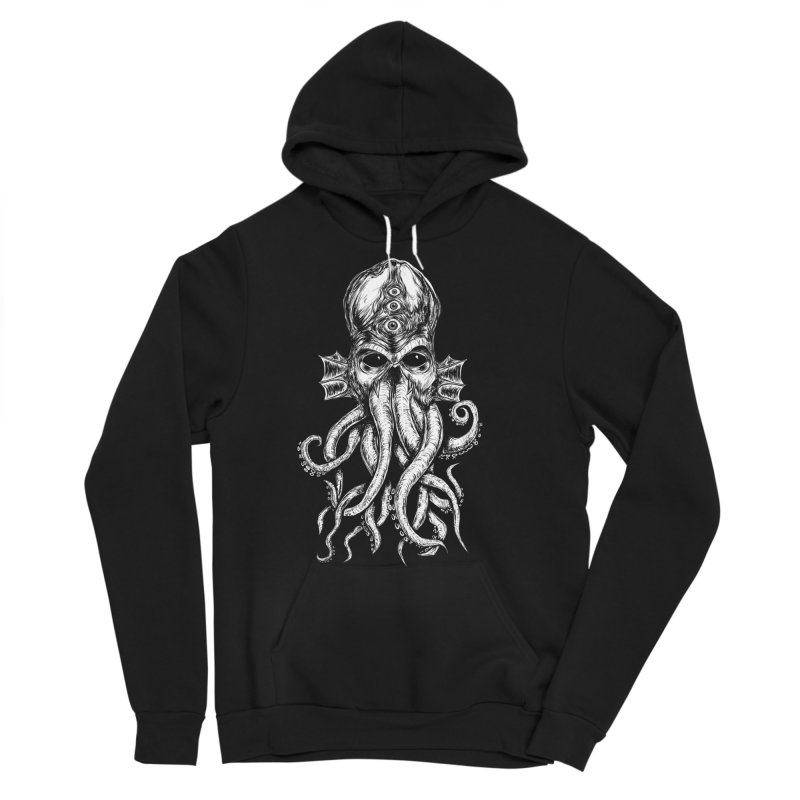 CTHULHU in Men's Sponge Fleece Pullover Hoody Black by Vertebrae33