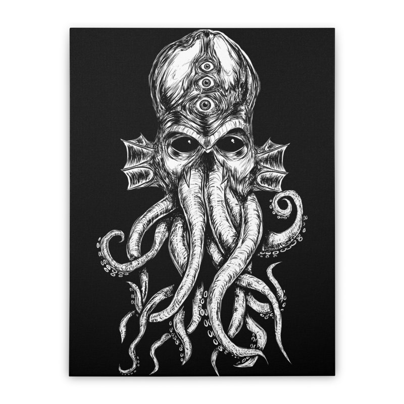 CTHULHU Home Stretched Canvas by Vertebrae33