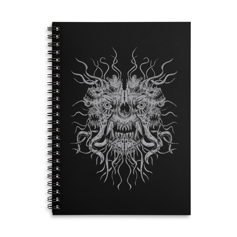 CRAWLING CHAOS Accessories Lined Spiral Notebook by Vertebrae33