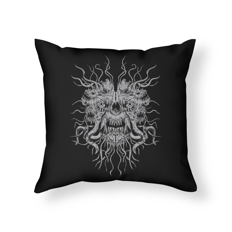CRAWLING CHAOS Home Throw Pillow by Vertebrae33