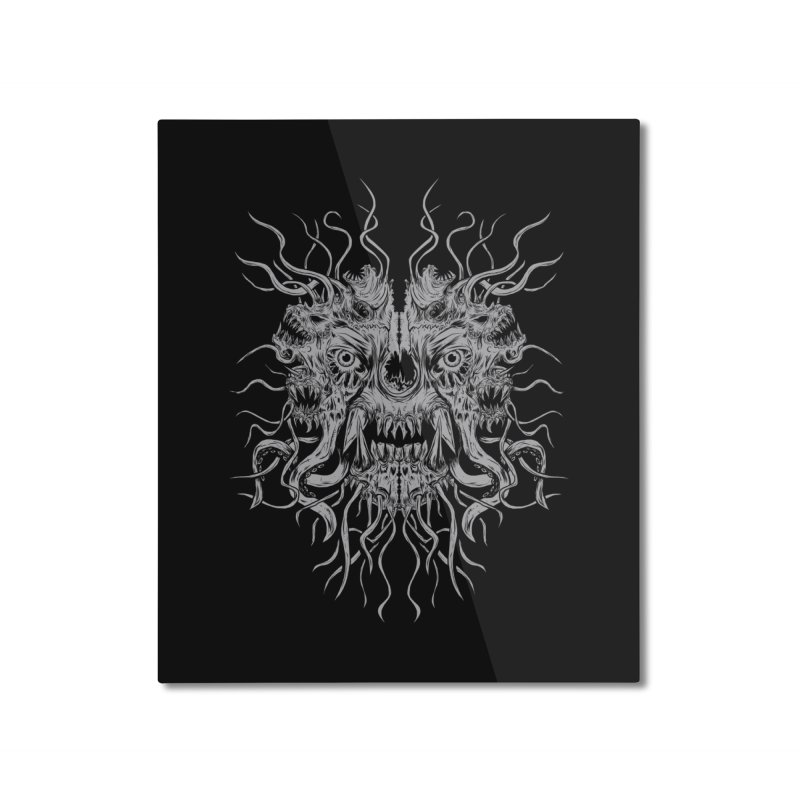 CRAWLING CHAOS Home Mounted Aluminum Print by Vertebrae33