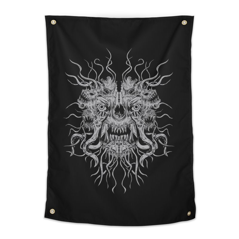 CRAWLING CHAOS Home Tapestry by Vertebrae33