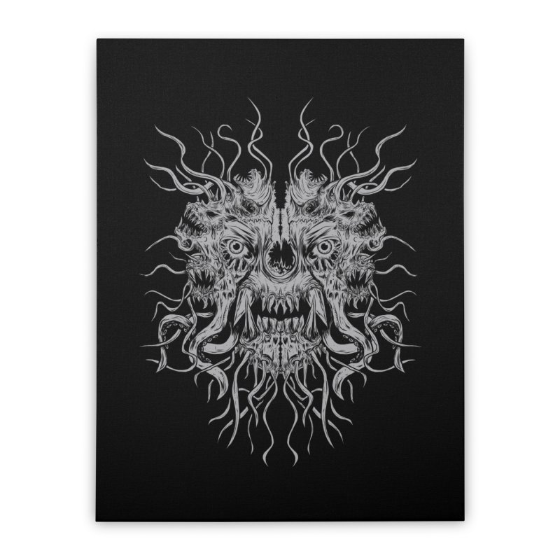 CRAWLING CHAOS Home Stretched Canvas by Vertebrae33