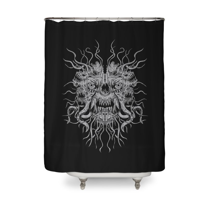 CRAWLING CHAOS Home Shower Curtain by Vertebrae33