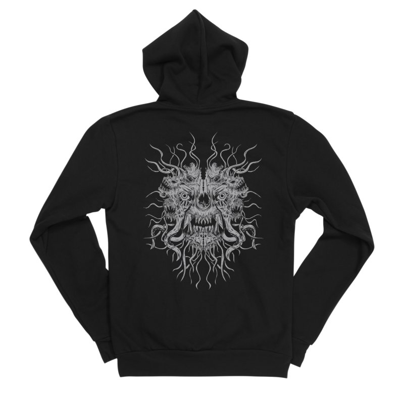 CRAWLING CHAOS Men's Sponge Fleece Zip-Up Hoody by Vertebrae33