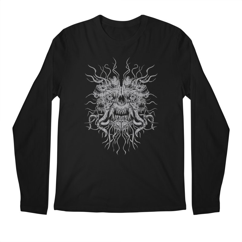 CRAWLING CHAOS in Men's Regular Longsleeve T-Shirt Black by Vertebrae33
