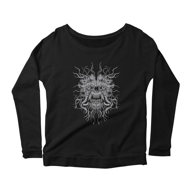 CRAWLING CHAOS Women's Scoop Neck Longsleeve T-Shirt by Vertebrae33