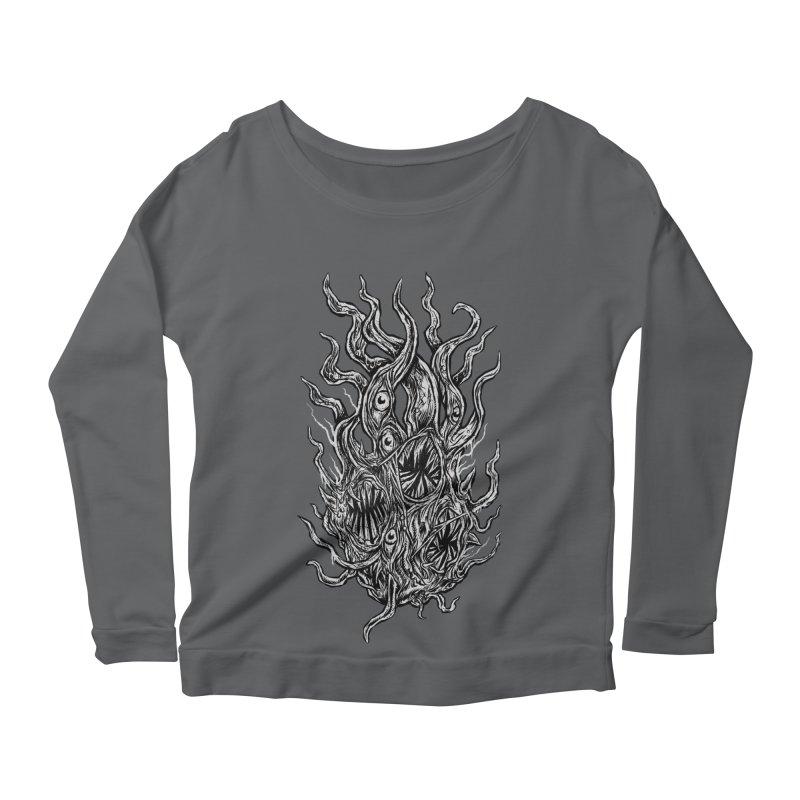 GURATH Women's Scoop Neck Longsleeve T-Shirt by Vertebrae33