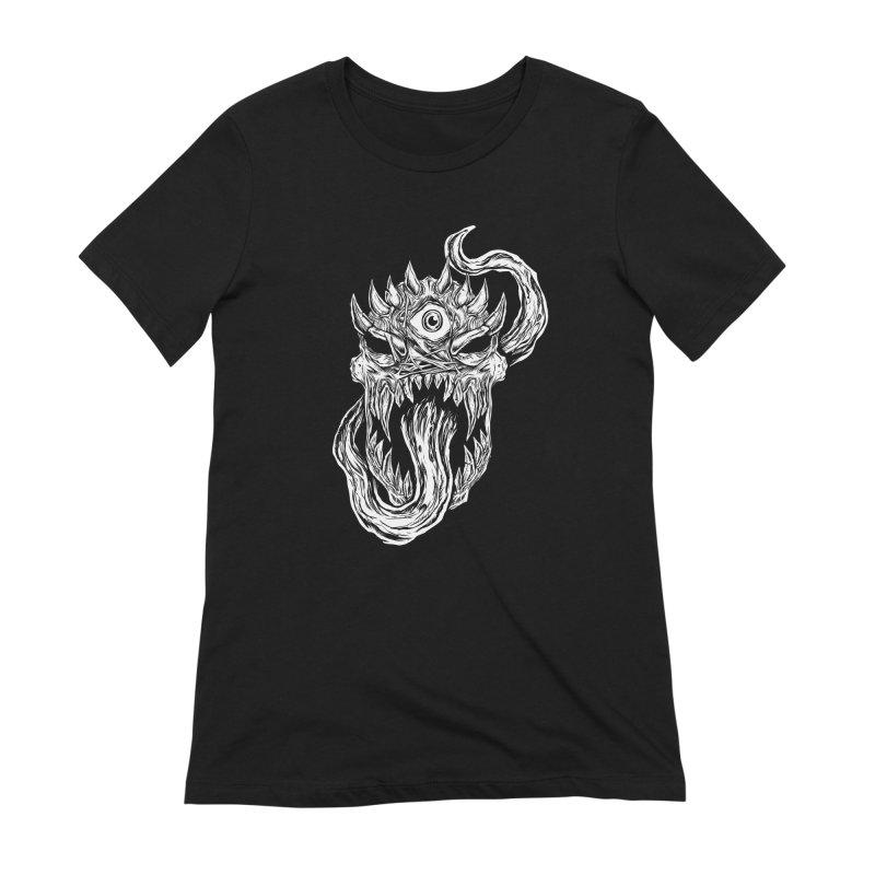 TWITCHING TONGUE Women's Extra Soft T-Shirt by Vertebrae33's Artist Shop