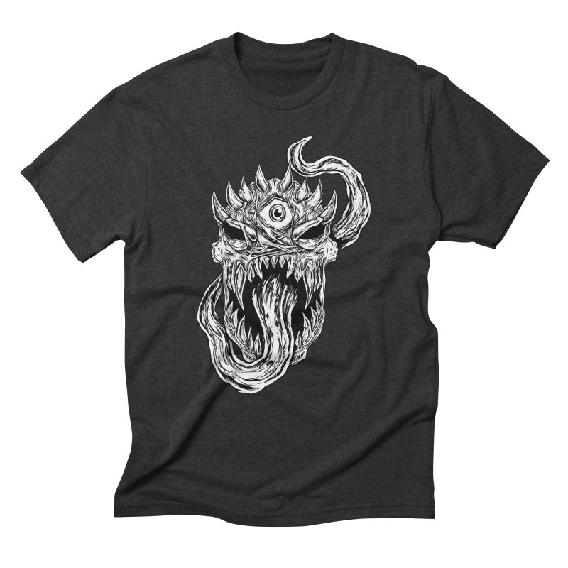 TWITCHING TONGUE Men's Triblend T-Shirt by Vertebrae33