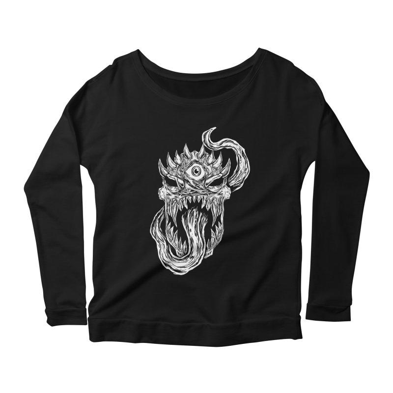 TWITCHING TONGUE Women's Scoop Neck Longsleeve T-Shirt by Vertebrae33