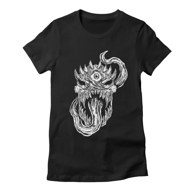 TWITCHING TONGUE Women's Fitted T-Shirt by Vertebrae33