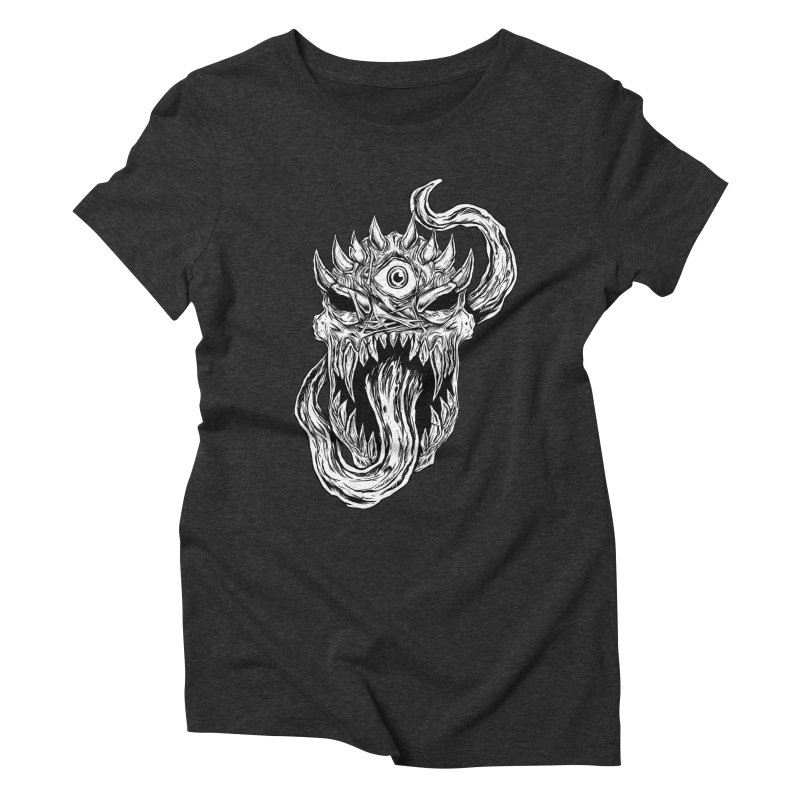 TWITCHING TONGUE Women's Triblend T-Shirt by Vertebrae33