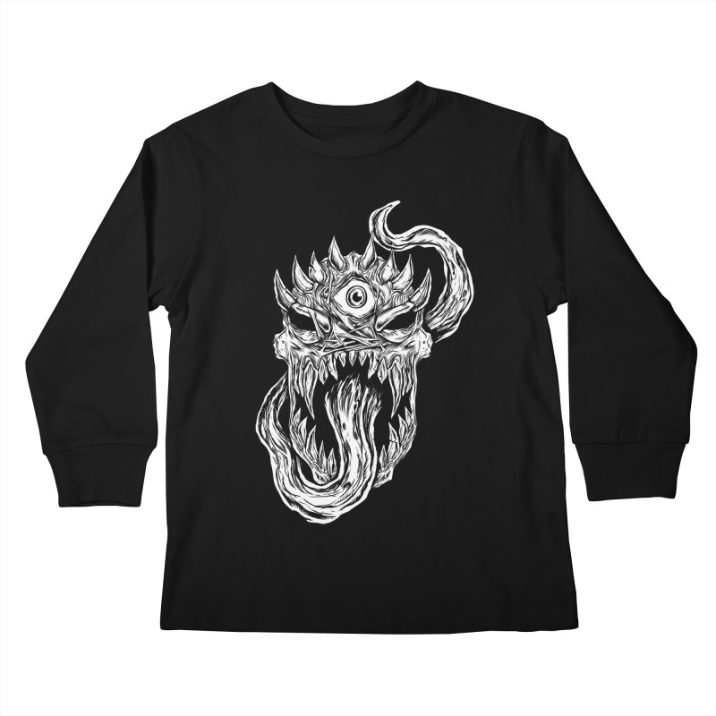 TWITCHING TONGUE Kids Longsleeve T-Shirt by Vertebrae33