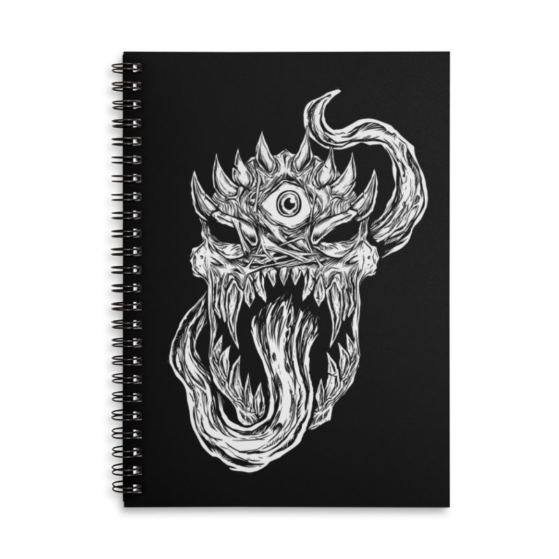 TWITCHING TONGUE Accessories Lined Spiral Notebook by Vertebrae33