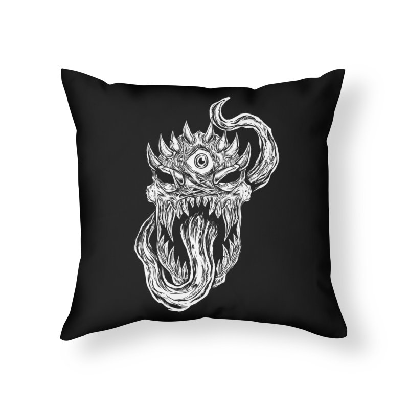 TWITCHING TONGUE Home Throw Pillow by Vertebrae33