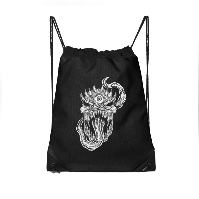 TWITCHING TONGUE Accessories Drawstring Bag Bag by Vertebrae33
