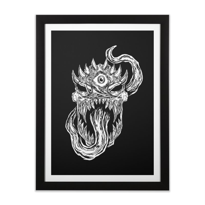 TWITCHING TONGUE Home Framed Fine Art Print by Vertebrae33