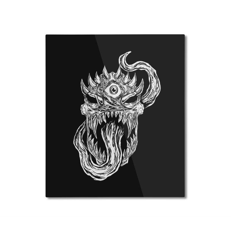 TWITCHING TONGUE Home Mounted Aluminum Print by Vertebrae33