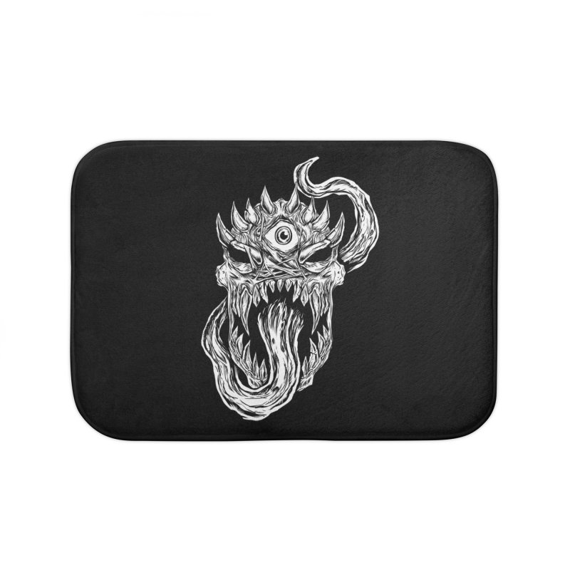 TWITCHING TONGUE Home Bath Mat by Vertebrae33's Artist Shop