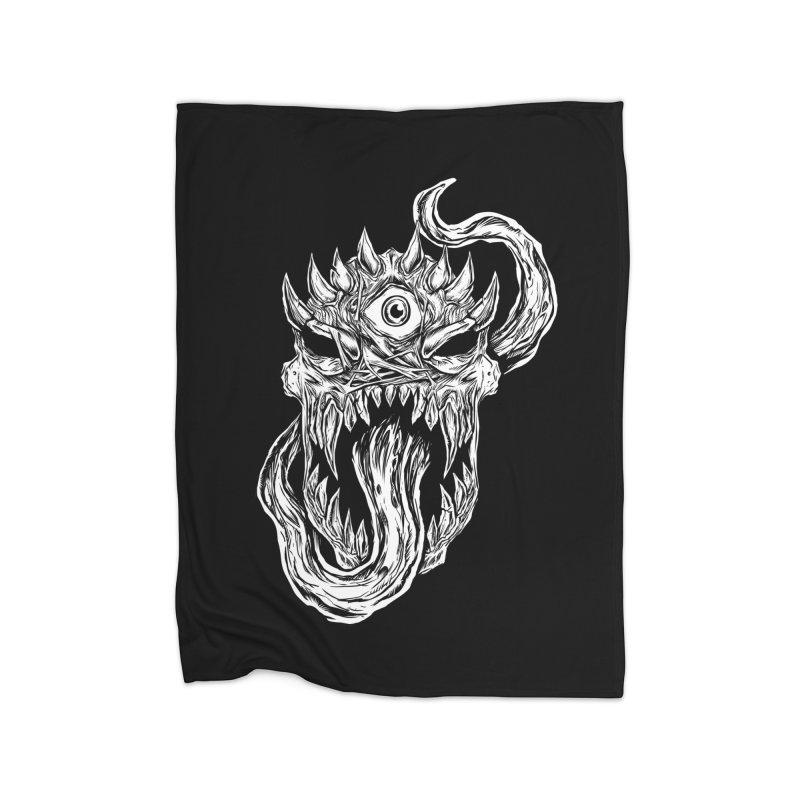 TWITCHING TONGUE Home Fleece Blanket Blanket by Vertebrae33